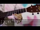 Flute melody OST Mio my Mio Ukulele tutorial / Урок игры на укулеле