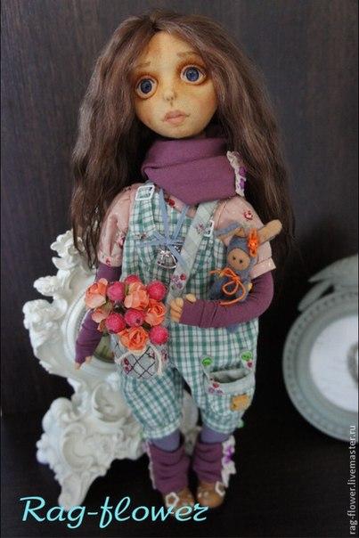 Авторские текстильные куклы (8 фото) - картинка