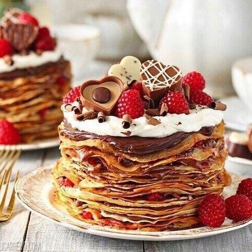 Открытка с тортом доброе утро хорошего дня 80