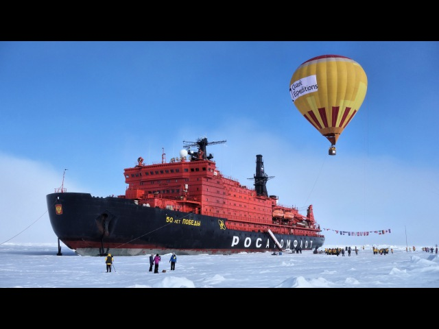 🎅 Voyage to North Pole on Nuclear Icebreaker 50 Years of Victory50 Лет Победы