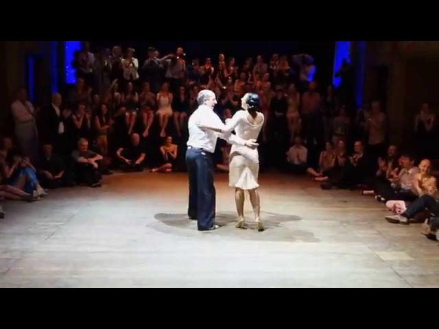 Tango: Erna Dolcet with Horacio Godoy, 13/04/2014, Brussels T.Fest., Random couples 3/4