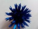 Василек из атласной ленты Cornflower of satin ribbon