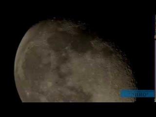 Видео через телескоп НЛО на фоне Луны 06.08.2012г. ...