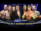 LUCHA COMPLETA 4-on-3 Handicap Match  SmackDown