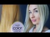 Как затонировать желтизну волос блондинкам. Revlon Nutri Color Creme 1002