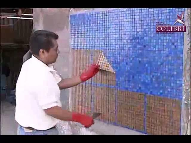 Instalacion Mosaico Veneciano Metodo tradicional - COLIBRIMTY