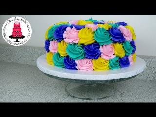 (группа LakomkaVK) Rose Swirl Rosette Cake - How To With The Icing Artist