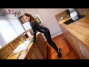 Julie skyhigh fitting latex rubber catsuit first time in extreme 20cm high heels