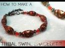 How To Make a Tribal Swirl Bead Bracelet
