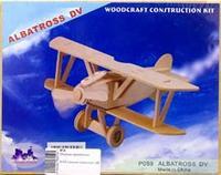 """Сборная модель """"самолет-альбатрос"""". арт. р059, VGA (Wooden Toys)"""