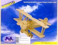 """Сборная модель """"самолет-ньюпорт 17"""". арт. р060, VGA (Wooden Toys)"""