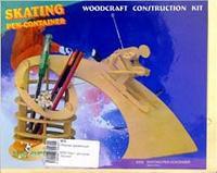 """S006 подставка для ручек """"лыжник"""", VGA (Wooden Toys)"""