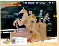 """S010 подставка для ручек """"наездник"""", VGA (Wooden Toys)"""