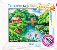 """Набор для живописи масляными красками. набор №9 """"дом у реки"""", EasyArt / Эльфмаркет"""