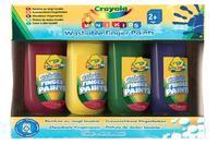Смываемые краски для рисования пальцами (4 штуки), Crayola