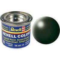 Краска темно-зеленая рал 6020, шелково-матовая, Revell (Ревелл)