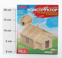 """Конструктор из деревянной соломки """"домик"""", LORI"""