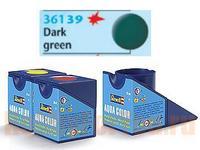 Аква-краска темно-зелёная, матовая. арт. 36139, Revell (Ревелл)