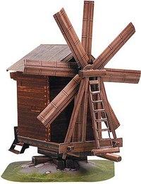 """Сборная модель из картона """"ветряная мельница (о. кижи)"""", Умная бумага"""