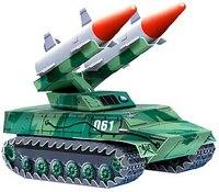 """Сборная игрушка из картона """"зенитно-ракетный комплекс"""", Умная бумага"""