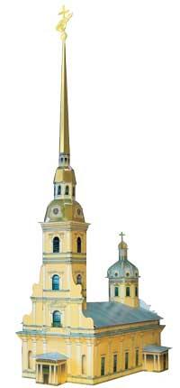 """Сборная модель из картона """"петропавловский собор"""", Умная бумага"""