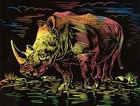 """Гравюра с цветной основой """"носорог"""", LORI"""