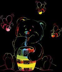 """Гравюра с цветной основой для самых маленьких """"мишка"""", LORI"""