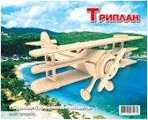 Самолет триплан. сборная деревянная модель (2 пластины), Мир деревянных игрушек (МДИ)