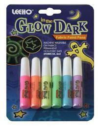 Гель glow dark флуоресцентный для работы по ткани, LEEHO