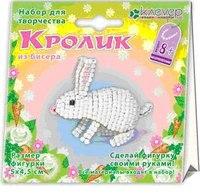 Набор для изготовления фигурки из бисера «кролик», Клевер