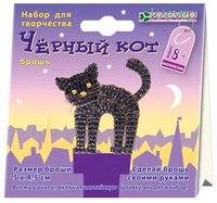 Набор для изготовления броши из бисера «черный кот», Клевер