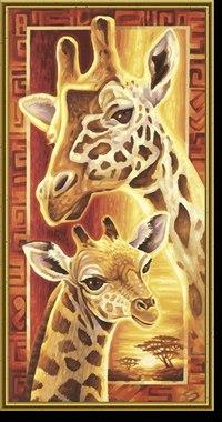 """Раскраска по номерам """"жирафы"""", Schipper"""