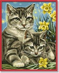"Раскраска по номерам ""кошка с котенком"", Schipper"