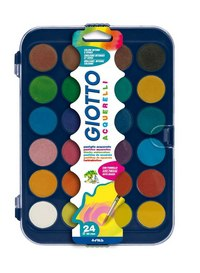 Акварель (24 цвета) с кистью, FILA-GIOTTO