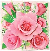 """Набор для открытки """"розовый цветок"""", Клевер"""