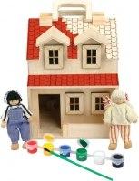 Домик - раскраска, Мир деревянных игрушек (МДИ)