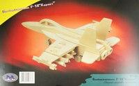 """Сборная деревянная модель """"бомбардировщик f18 хорнет"""", VGA (Wooden Toys)"""