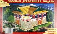 """Сборная деревянная модель """"тибетский домик 2"""", VGA (Wooden Toys)"""