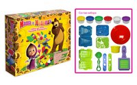 "Набор пластилина ""праздник мороженого"", Маша и Медведь"