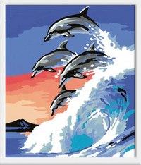 """Набор для раскрашивания """"дельфины"""", Ravensburger"""