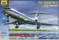 """Сборная модель """"пассажирский авиалайнер """"ту-134 а/б-3"""""""", Звезда"""