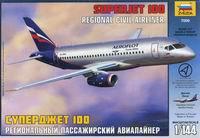"""Сборная модель """"региональный пассажирский авиалайнер """"суперджет 100"""""""", Звезда"""