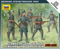 """Сборная модель """"немецкая кадровая пехота"""", Звезда"""
