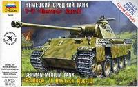 """Сборная модель """"немецкий средний танк t-v """"пантера"""" ausf. d"""", Звезда"""