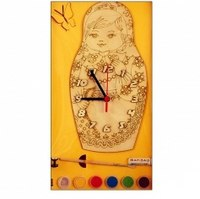 """Часы с циферблатом под роспись """"матрешка"""", Деревянные игрушки"""
