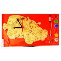 """Часы с циферблатом под роспись """"машинка"""", Деревянные игрушки"""