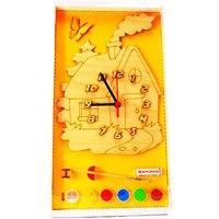 """Часы с циферблатом под роспись """"домик"""", Деревянные игрушки"""