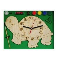 """Часы с циферблатом под роспись """"черепаха"""", Деревянные игрушки"""