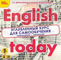 Cd-rom. english today. углубленный курс для самообучения (количество cd дисков: 2), 1С