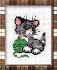 """Набор для вышивания """"котенок с клубком"""", Сотвори Сама"""